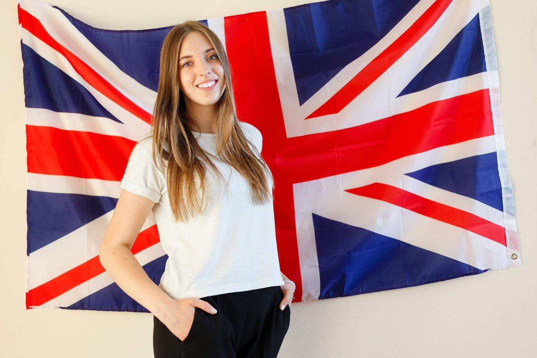 drapeau anglais fille