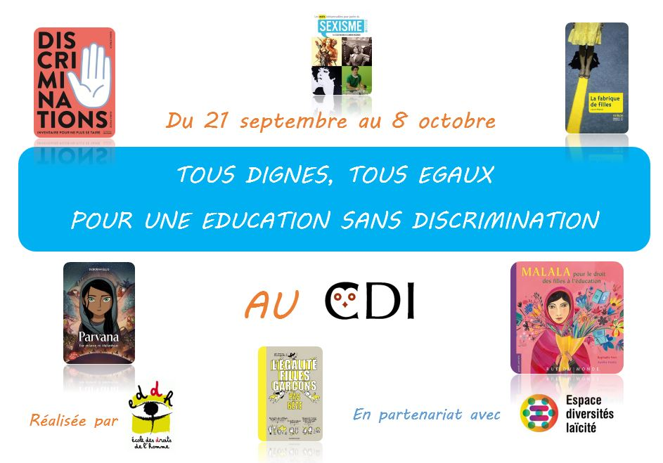 Expo Tous dignes, tous égaux pour une éducation sans discrimination
